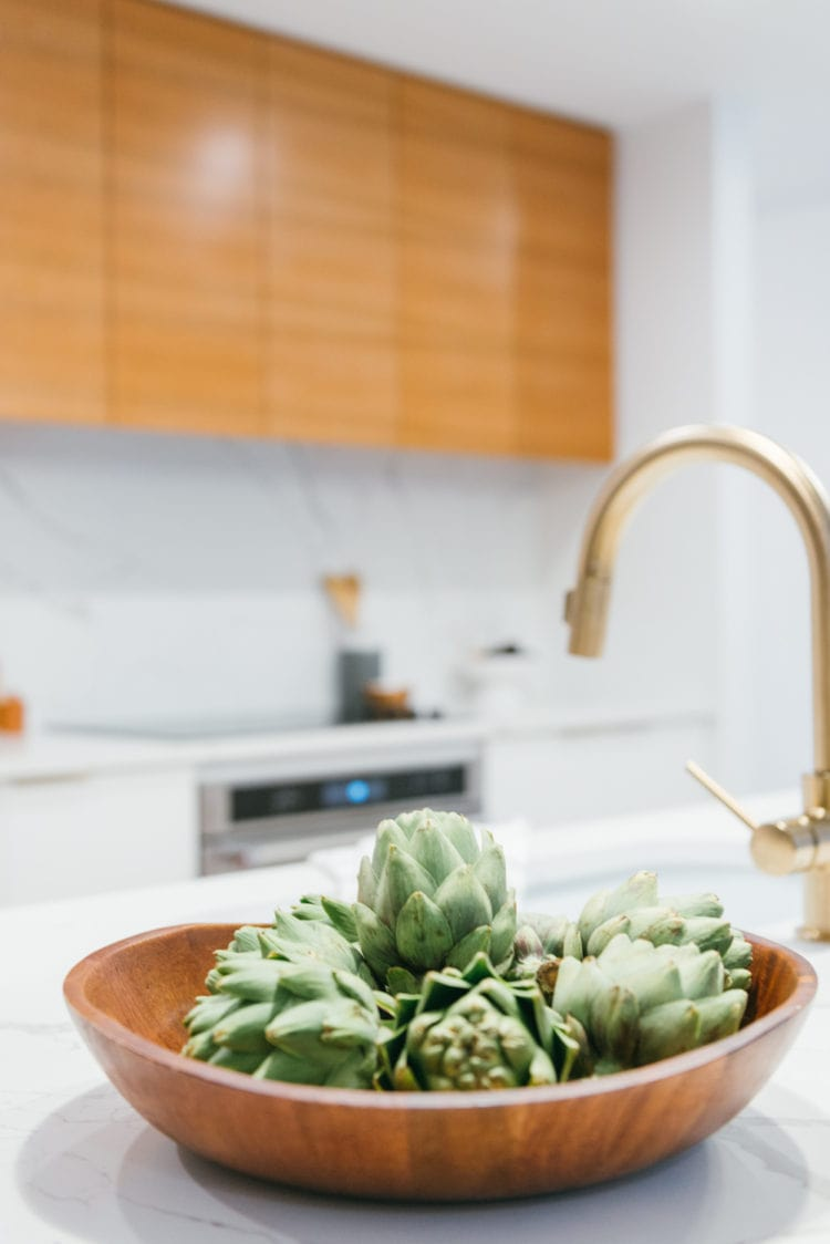 Shot of kitchen with mid-century modern design in Fort Lauderdale by Studio 818