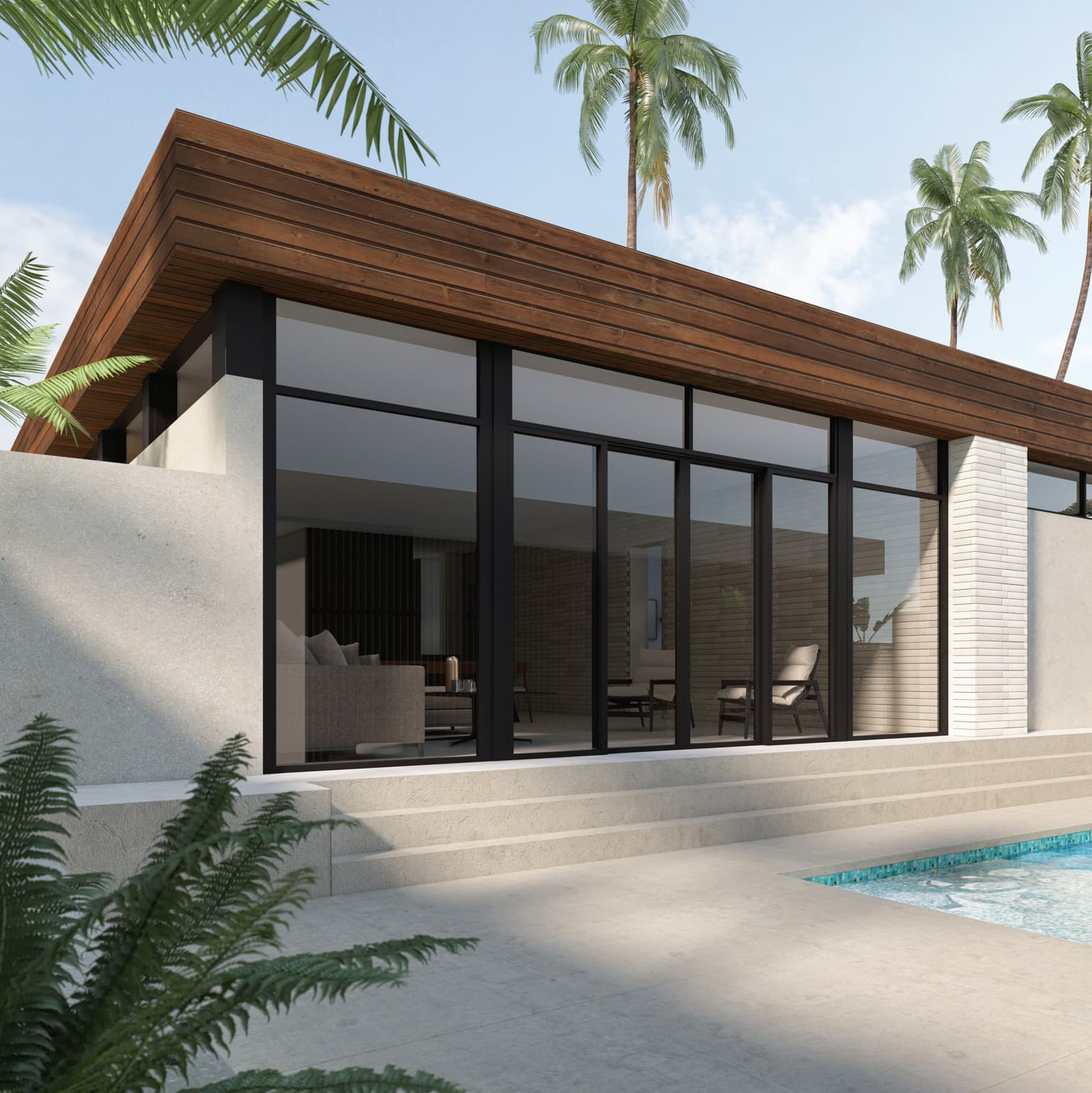SQ custom home mid-century modern design