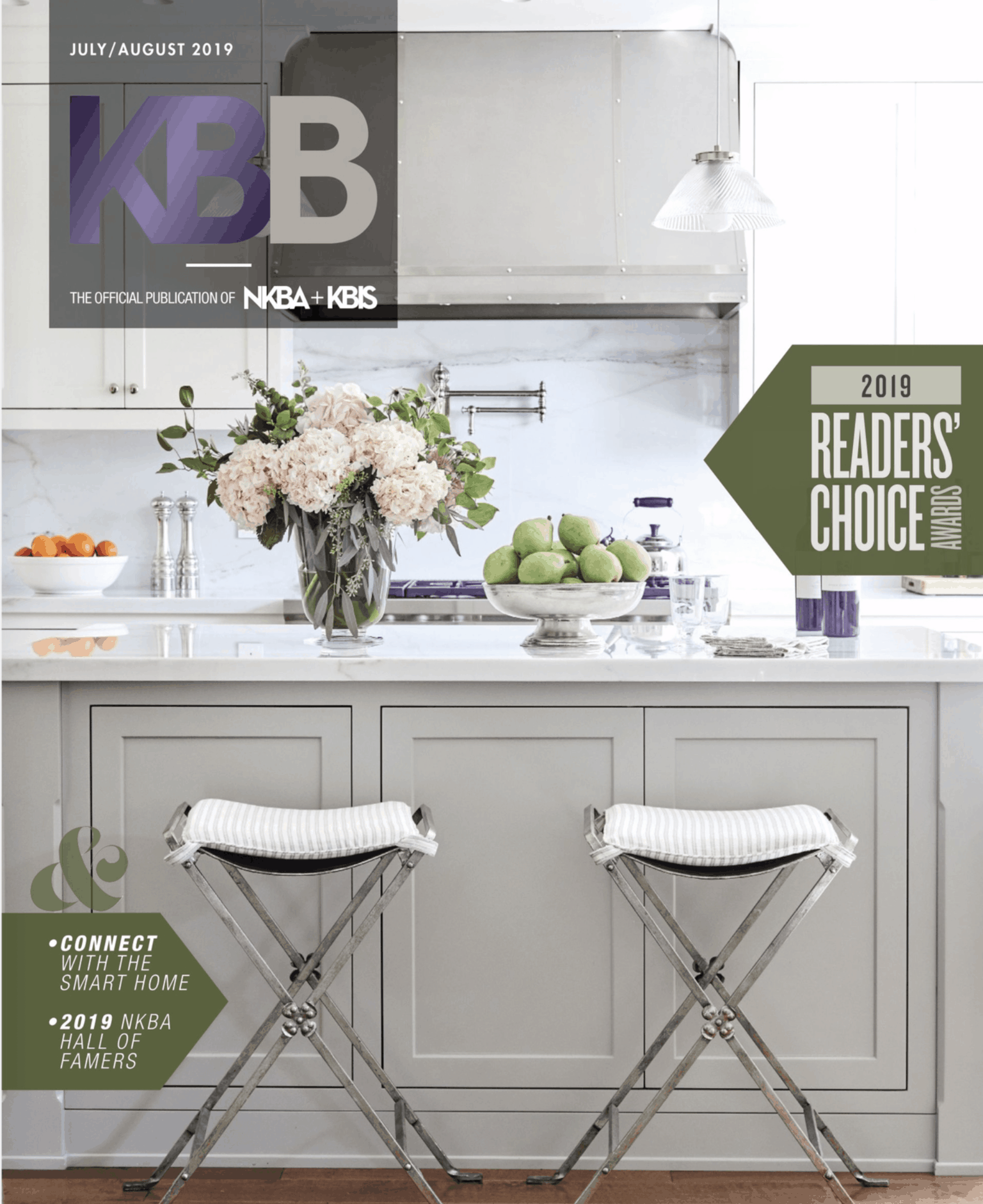 Cover of Kitchen + Bath magazine with feature article on Studio 818
