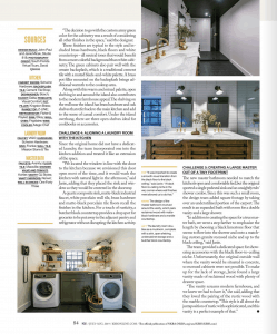Page 2 of Kitchen + Bath magazine with feature article on Studio 818