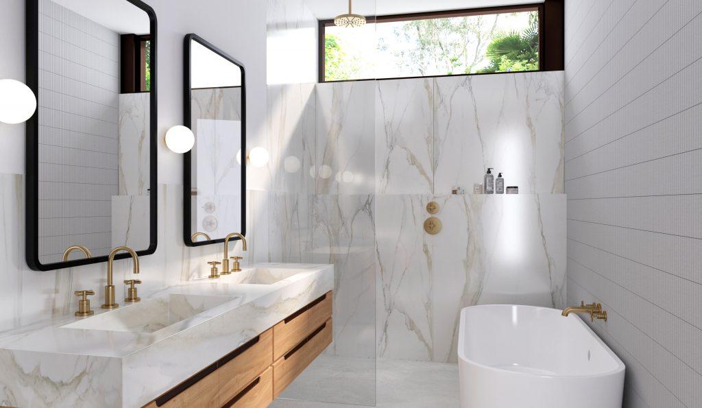MidMod House Mid-Century Modern master bath