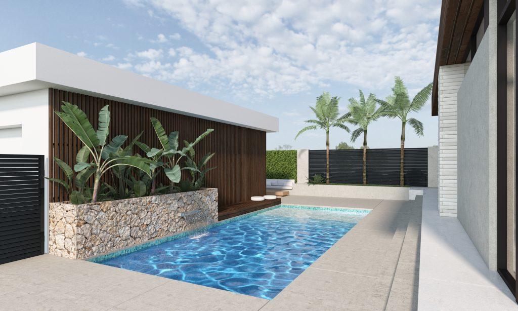 MidMod House Mid-Century Modern pool area