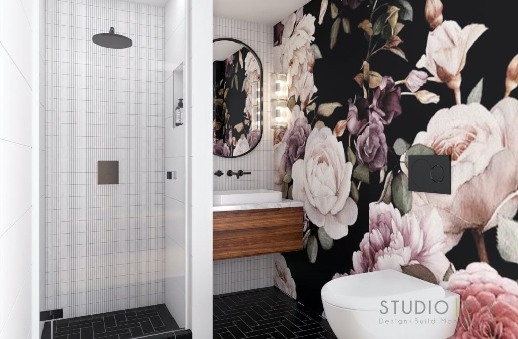 Harbor Beach design project: Client Casa Gal powder room 01