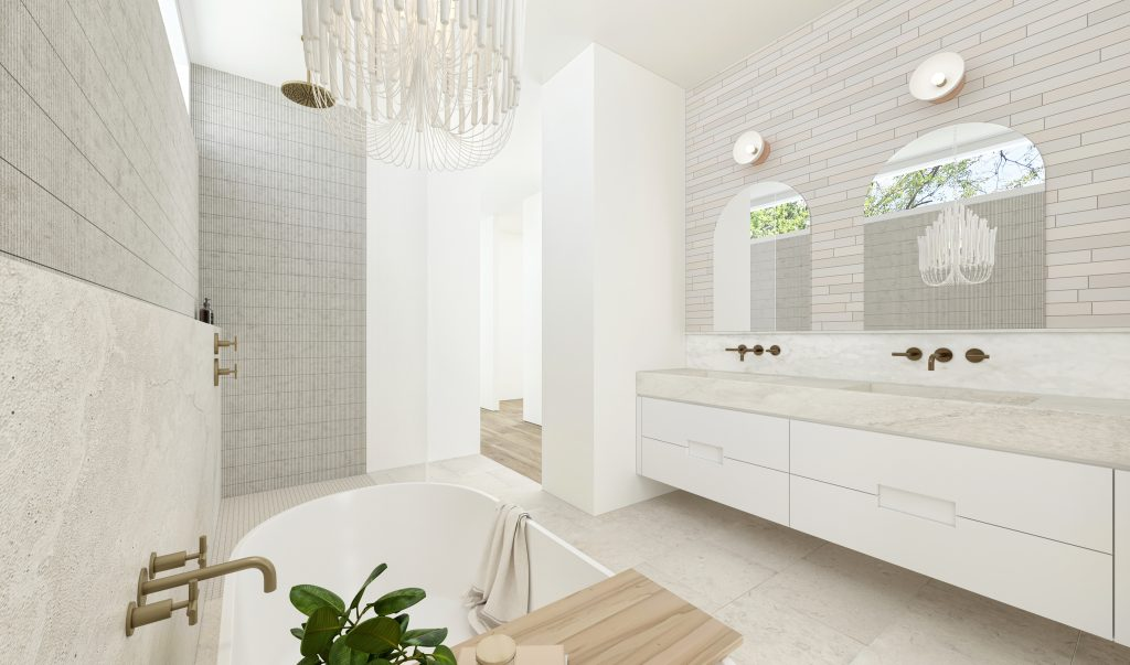 Rendering view 02 of master bath Bamboo House, Wilton Manors