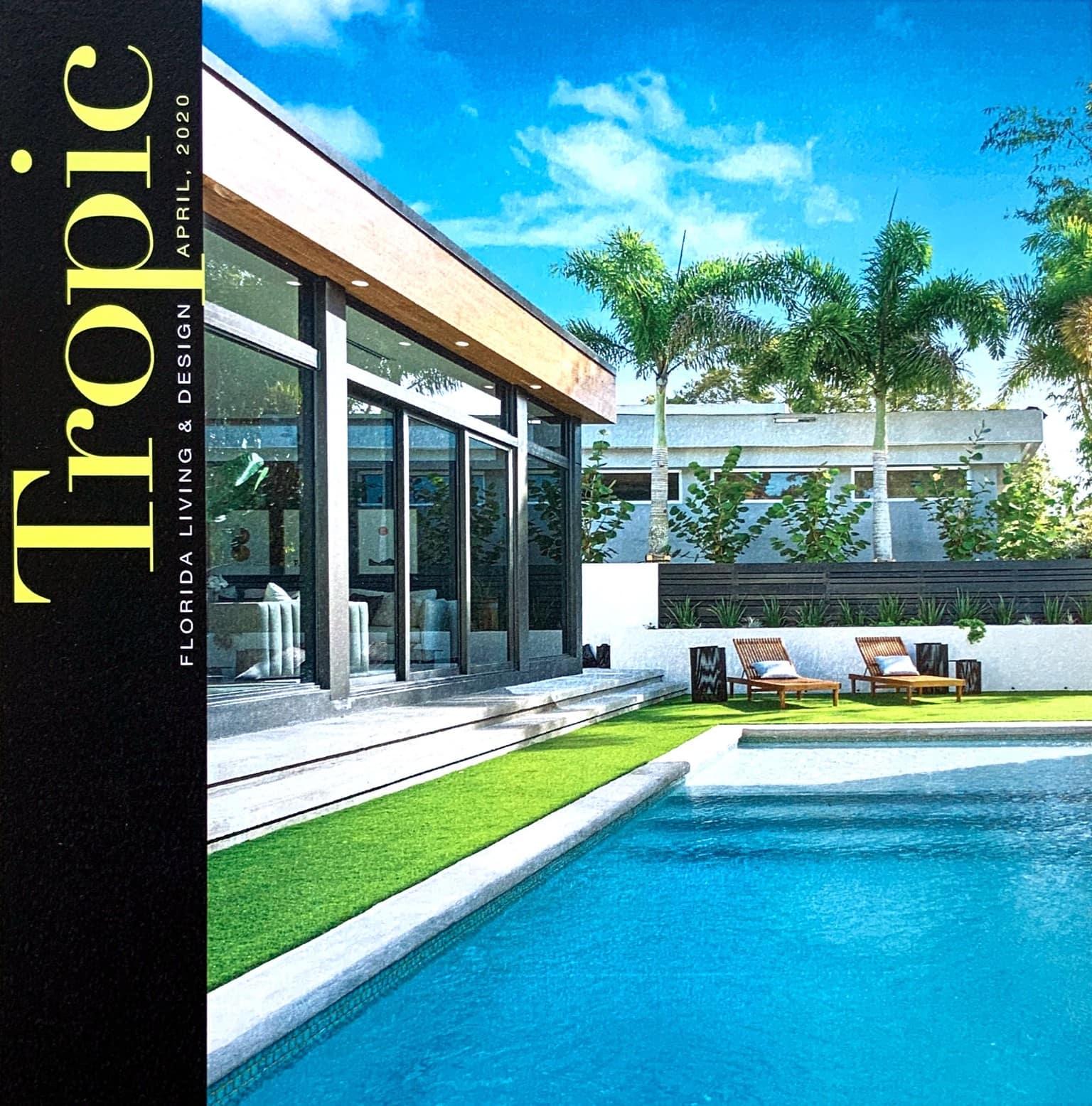 Tropic Magazine cover Studio 818 MidMod House